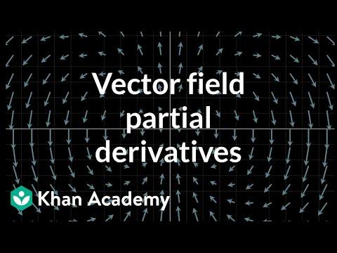 Partial derivatives of vector fields