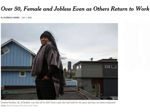 01/01/2016: Over 50, Female and Jobless Even as Others Return to Work
