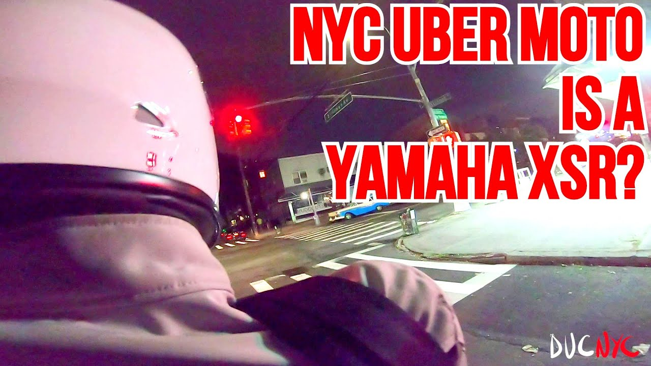 My NYC UBER Moto is a YAMAHA? Whisper Quite Exhaust - 2 UP ride with MotoNoir v1273