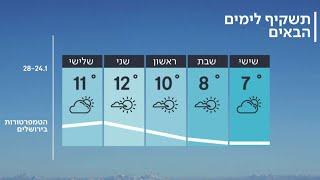 התחזית 24.01.20: קר מן הרגיל בעונה