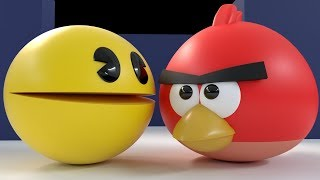 Pac-Man Vs Angry Birds [Protect the Eggs]