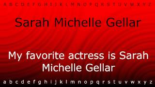 Here I will teach you how to pronounce 'Sarah Michelle Gellar' with Zira.mp4