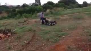 Roçadeira e cortador de grama caseiro 3º teste