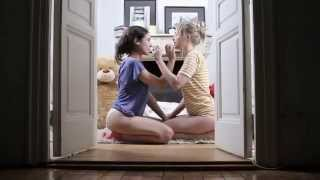 Repeat youtube video Hot Blonde and Brunette seducing Bear