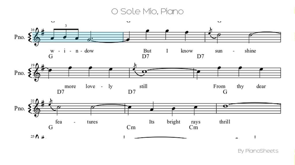 Piano scarborough fair piano sheet music : O Sole Mio [Piano Solo] - YouTube