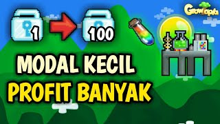 CARA PROFIT MODAL 1 DL SCIENCE STATION ?! GROWTOPIA INDONESIA