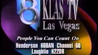 KLAS TV Channel 8 Las Vegas ids 1992