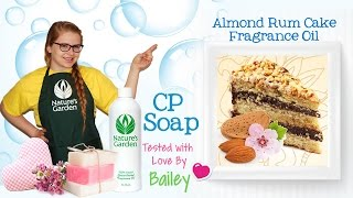 Soap Testing Almond Rum Cake Fragrance Oil- Natures Garden