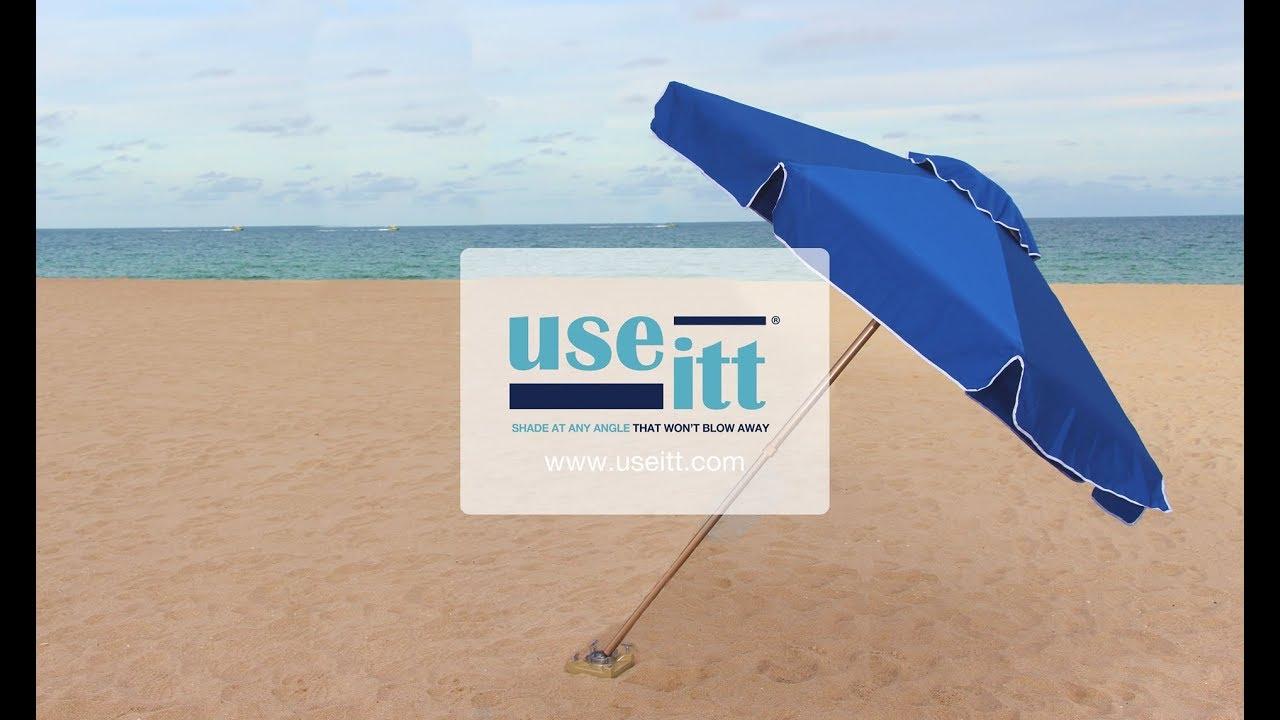 low priced e4c66 d612b UseItt Best Beach Umbrella For Wind, It Won't Blow Away