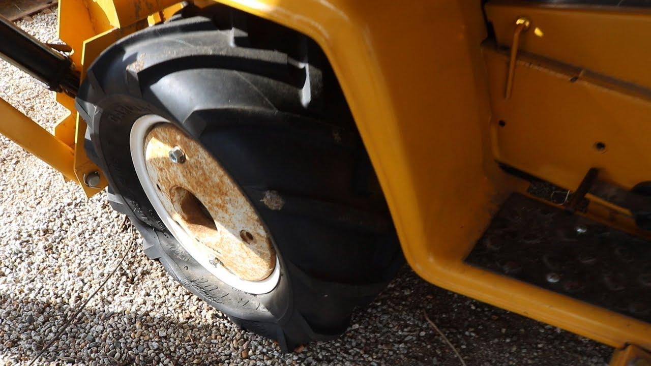 Garden Tractor Tire Repair Tube Install Cub Cadet 149