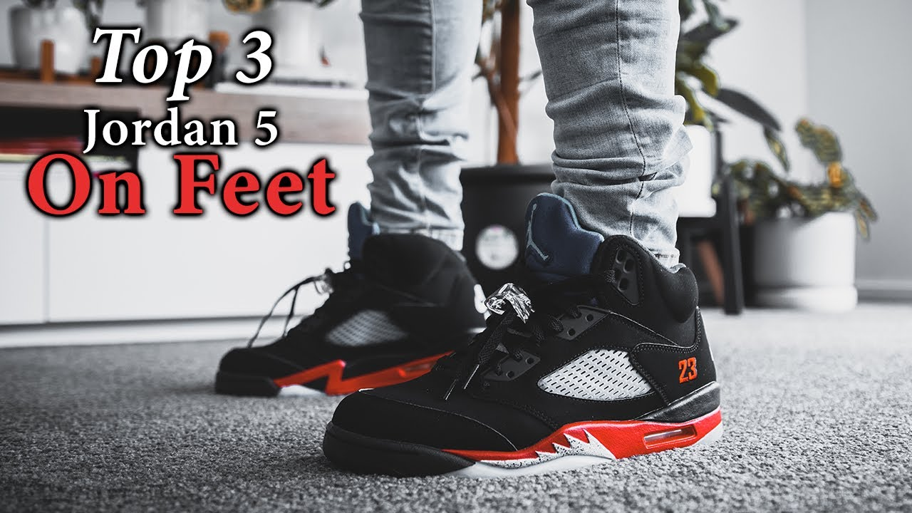 'Top 3' Air Jordan 5 ON FEET with Different Pants