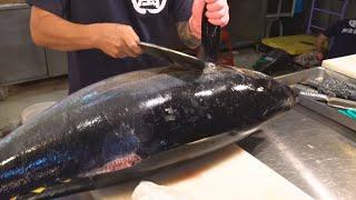 Yellowfin Tuna Cutting Skills / 黃鰭鮪魚切割技能 - Taiwanese Seafood