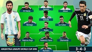 ARGENTINA POTENTIAL LINEUPS FIFA WORLD CUP 2018 RUSSIA