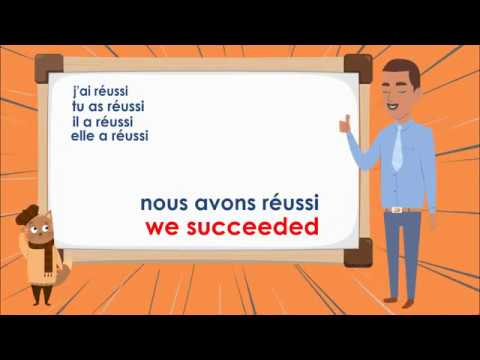 Le Verbe Reussir Au Passe Compose To Succeed Compound Tense French Conjugation Youtube