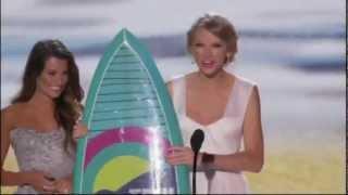 Taylor Swift wins Choice Female Artist at TCA 2012 [HD]