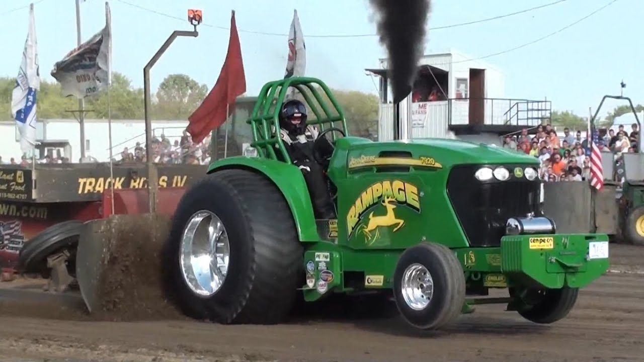 Pro Stock Pulling Tractors : Tractor pulling slow mo recap quot rampage pro stock youtube