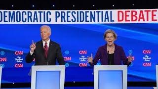 Elizabeth Warren in the crosshairs at Democratic candidates' debate