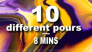 10 различных техник рисования жидкостью | Художественная заливка акрилом, сборник no 3
