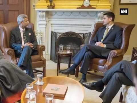 S Jaishankar meets US House Speaker Paul Ryan, discusses ways to enhance bilateral Ties
