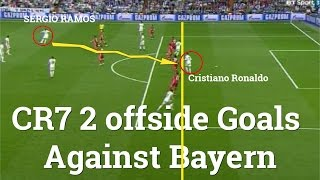 Ronaldo struck twice from offside positions to kill the tie:Real Madrid vs Bayern Munich 4-2 2017