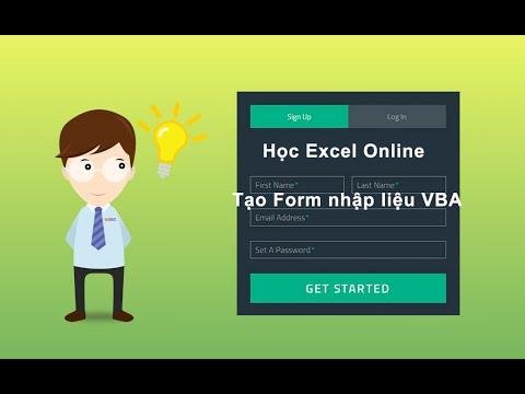 Hướng dẫn tạo Form nhập liệu trên Excel {ĐẶC BIỆT} – VBA 28