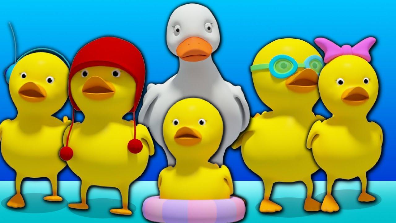 Five Little Ducks Rhyme Cinq Petits Canards Riment Garderie