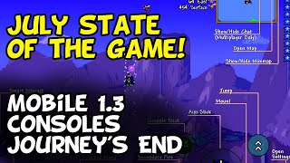 July State of the Game Terraria Update — Mobile 1.3, Switch, PC, and Consoles!