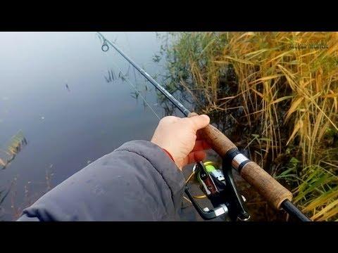 Ловля Щуки на Спиннинг с Берега. Рыбалка. Река. Осень 2018.