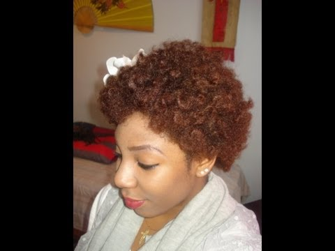 Natural Hair Bantu Knot Out YouTube