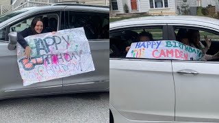 My Birthday Car Parade. How to Celebrate a Birthday During Quarantine