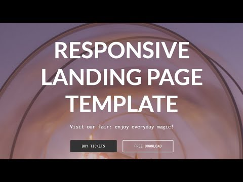 Free Bootstrap Landing Page Template - YouTube
