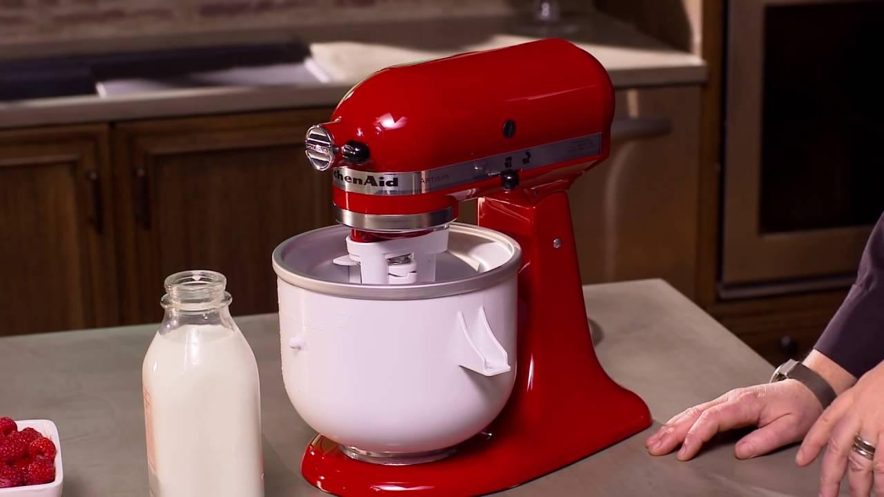 accessoire à crème glacée kitchenaid - le shopping du chef - youtube