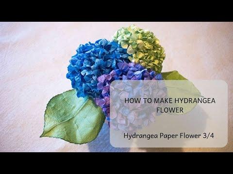 How to make hydrangea flower: Hydrangea paper flower tutorial 3/4