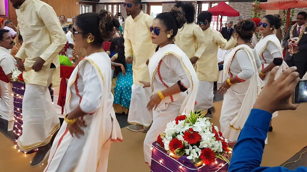 Wedding reception dance Kerala
