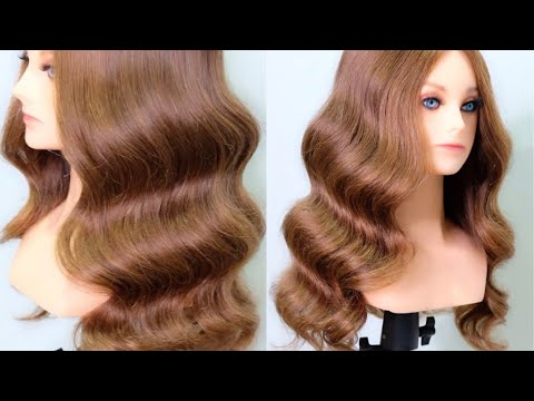 Beach Waves Hairstyle,  How To  Create Beach Waves By Curling Iron Size 25 Mm.