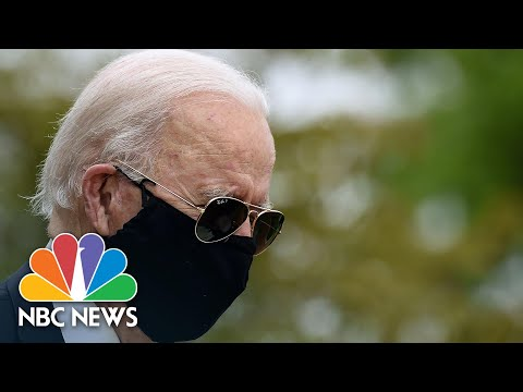 Watch: Biden Wears Black Face Mask In First Public Appearance Since March | NBC News NOW