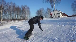 Сноуборд, обучение катанию для начинающих. 2. Пример обучение Юры с нуля.