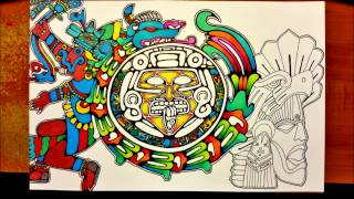 Aztec and Mayan mix - Prisma color drawing