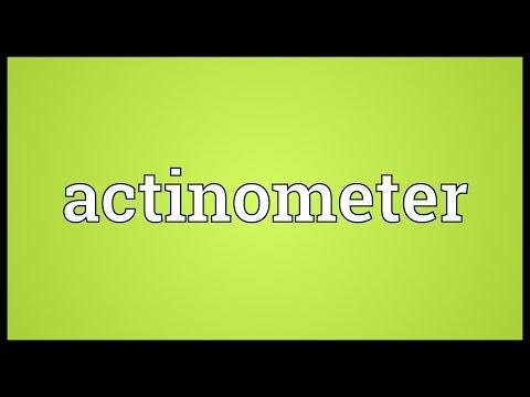Header of actinometer