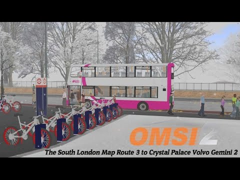 Omsi 2: The South London Map Route 3 to Crystal Palace Volvo Gemini 2