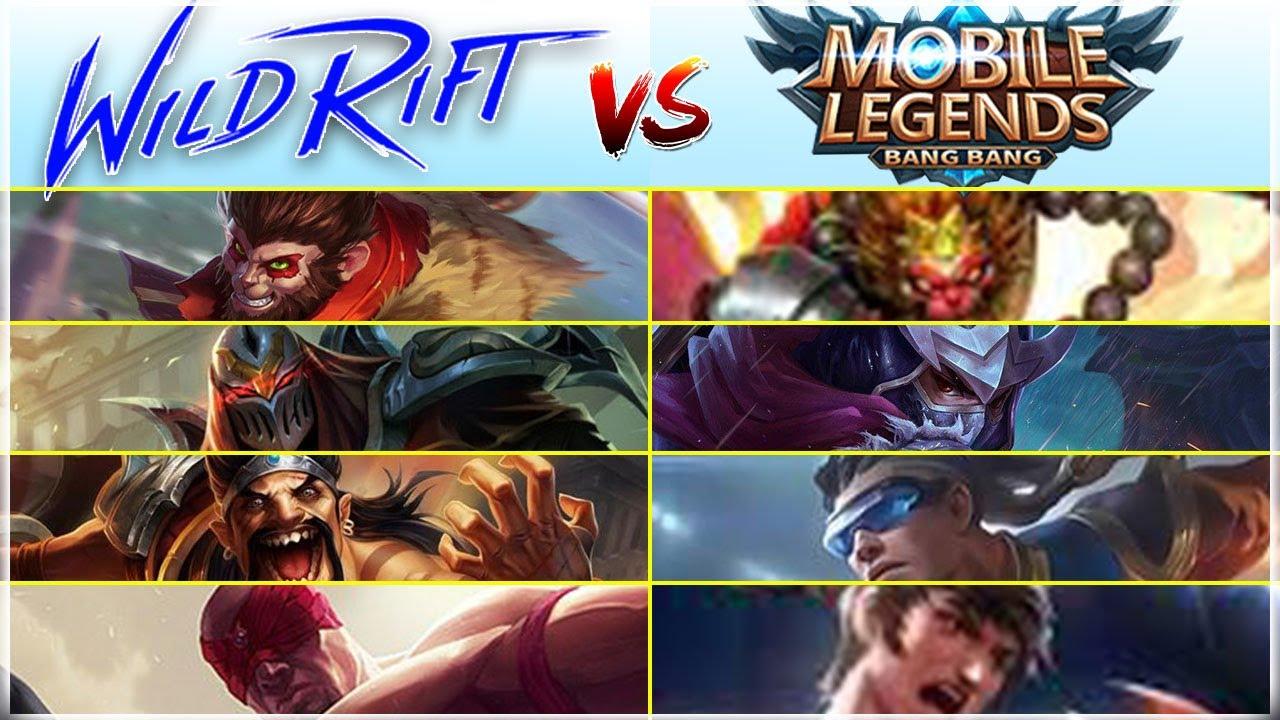 Mobile Legends vs LoL Wild Rift Hero Comparison (Part I)