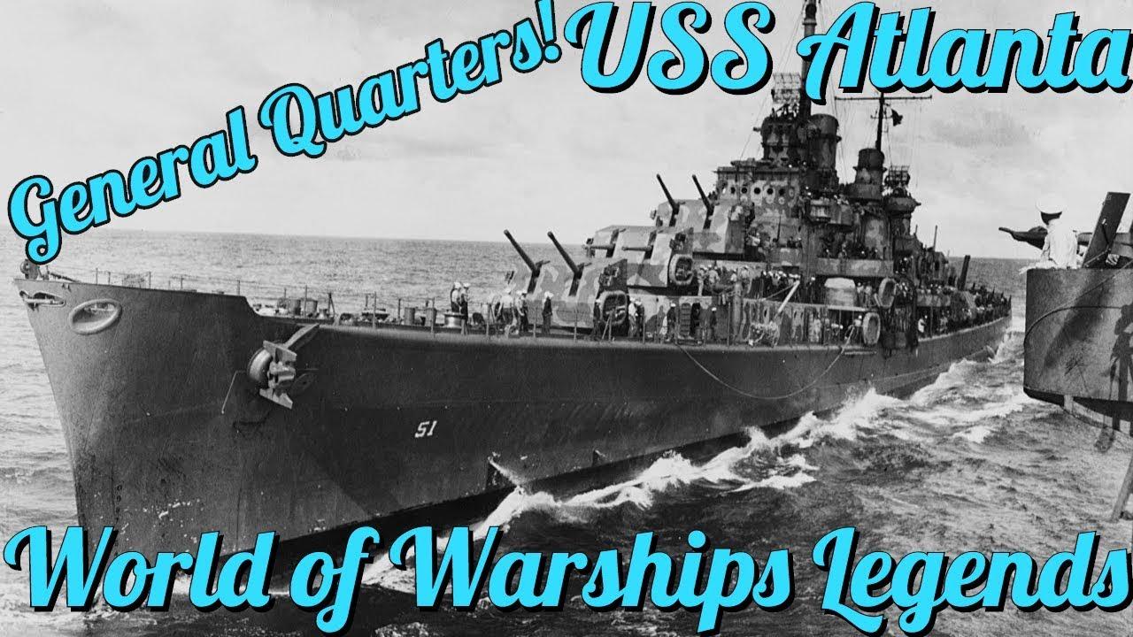 World Of Warships Legends Ship Preview : USS Atlanta