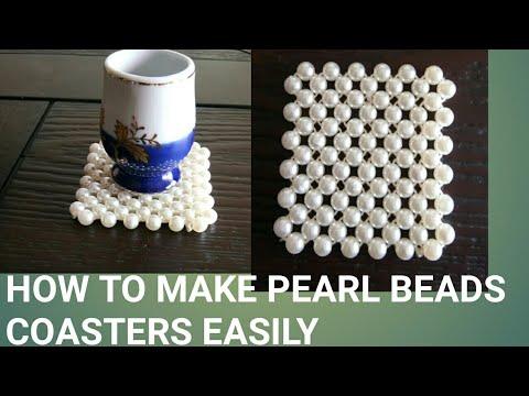 How to make pearl beads coasters easily