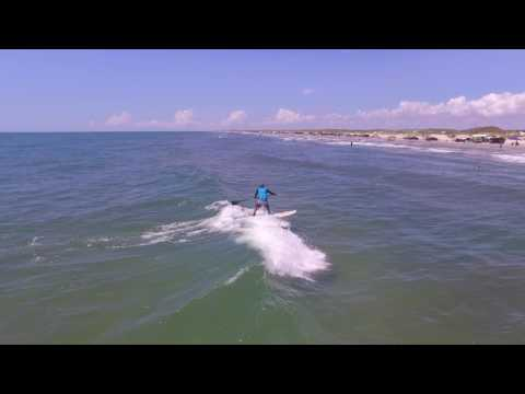 Skim boarding Bob Hall Peir, Corpus Christi, Tx