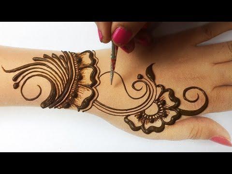 Stylish Arabic Mehndi Design - New Easy Mehndi Design - सूंदर मेहँदी लगाने का आसान तरीका सीखे