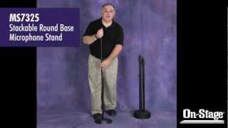 MS7325 Stackable Round Base Mic Stands