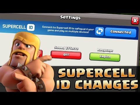 SUPERCELL ID CHANGES | Clash Of Clans | SWITCH QUICKLY BETWEEN YOUR ACCOUNTS