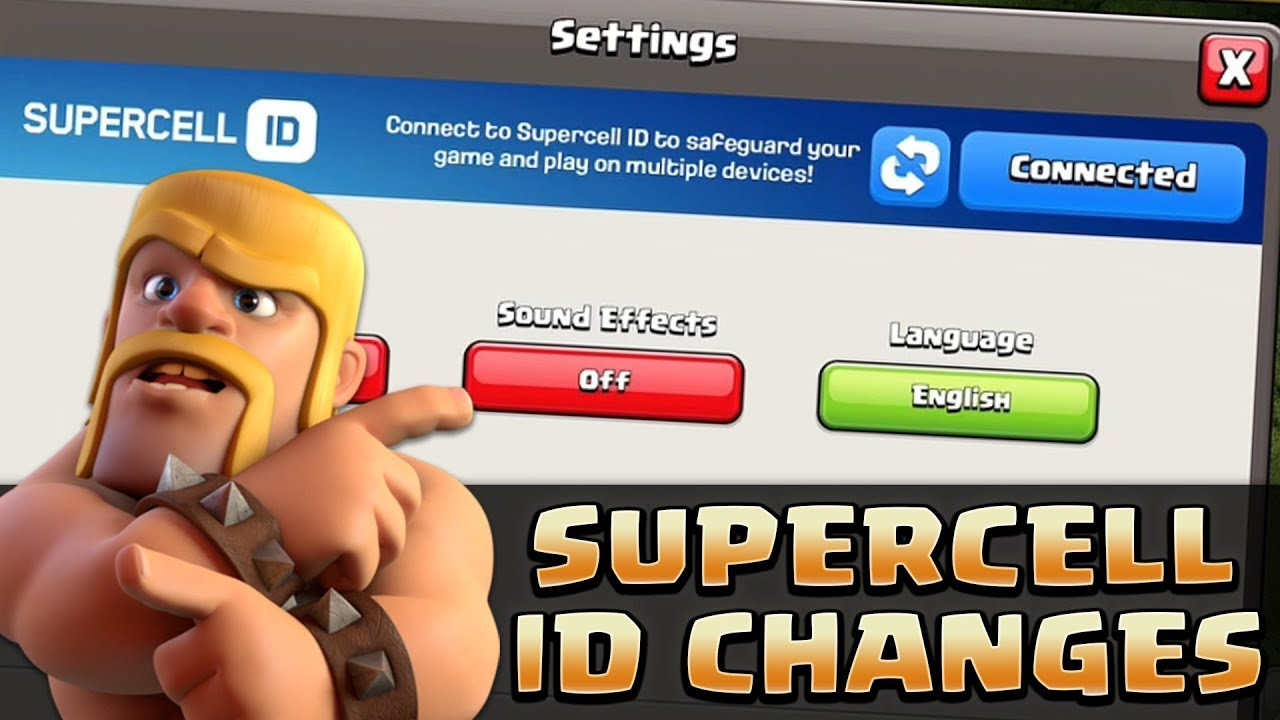 Supercell Id Changes Clash Of Clans Switch Quickly Between Your Accounts Youtube