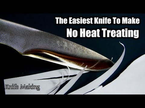 How To Make A Knife Without Heat Treating | The Easiest Knife To Make For a Beginner
