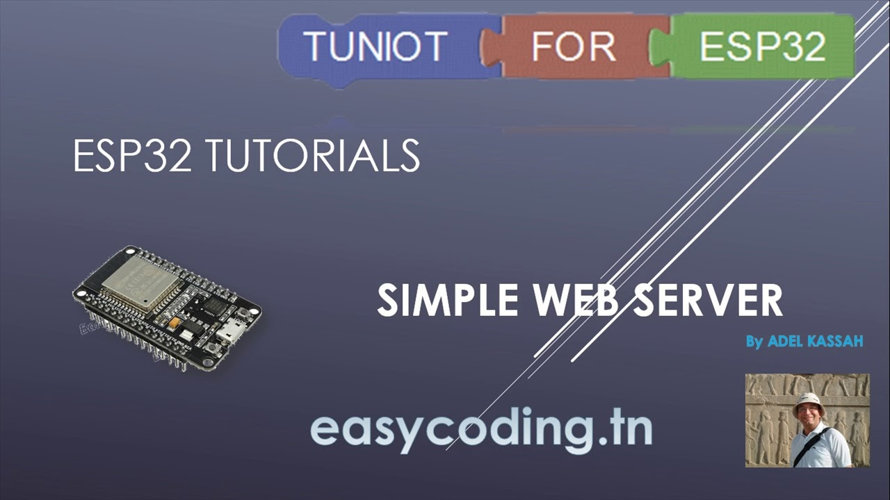 ESP32 tutorial 12: Running a simple Web Server